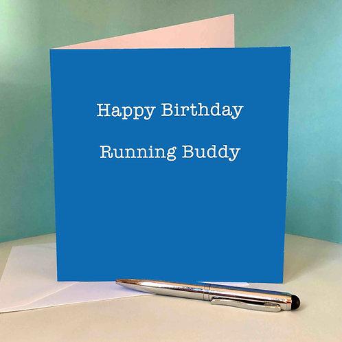 Happy Birthday Running Buddy Blue