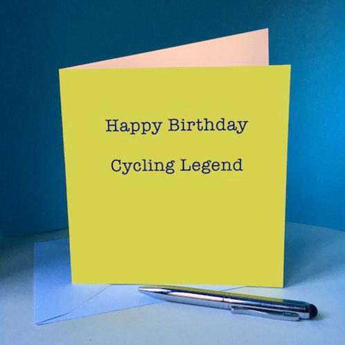 Happy Birthday Cycling Legend Card
