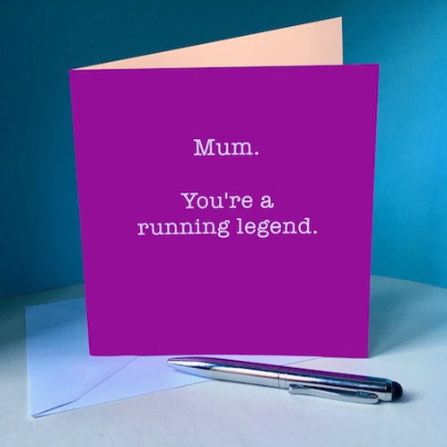 Mum, running legend card