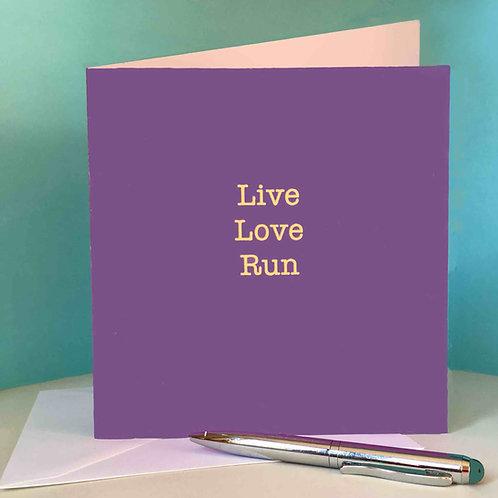 Live Love Run card