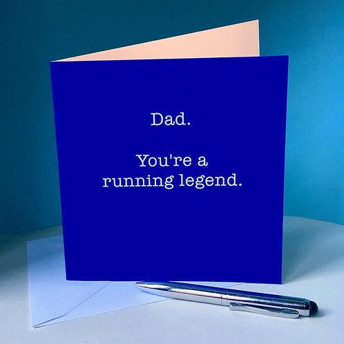 Dad, running legend card