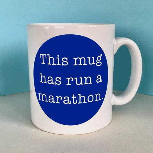 This Mug has Run a Marathon Mug (Blue)