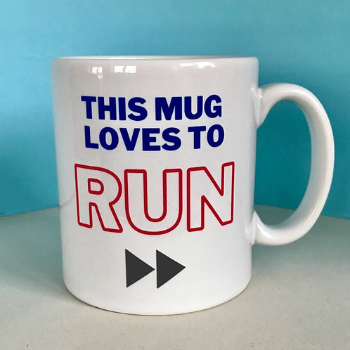 This Mug Loves to Run Mug