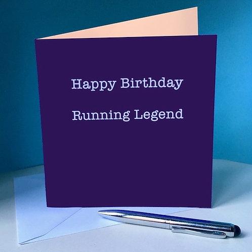 Happy Birthday Running Legend Card