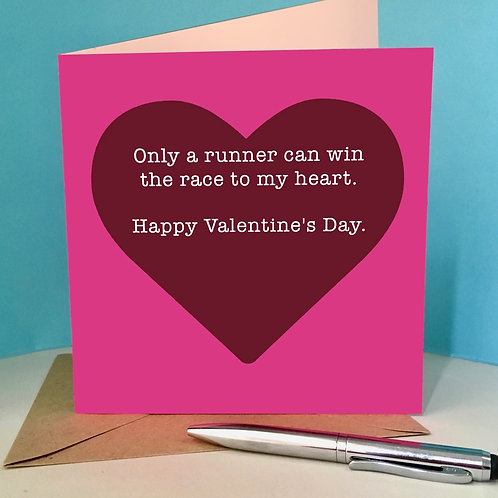 Valentine's only a runner card