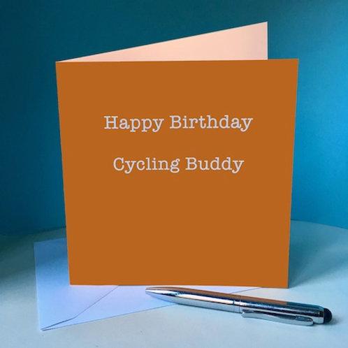 Happy Birthday Cycling Buddy Card