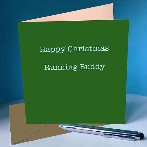 Happy Christmas Running Buddy card