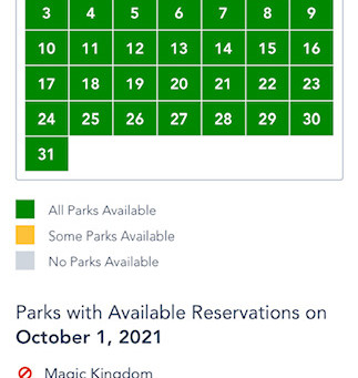 Book your Advance Park Reservations ASAP!