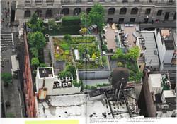Jardin floral sur le toit d'un penthouse