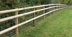 fencing post rail