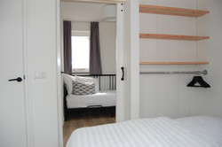 Double bed, connecting door