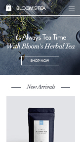 Webshop website templates – Tea Shop