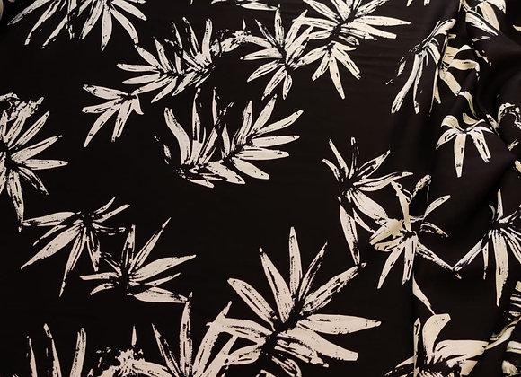 Black Palm Viscose Challis