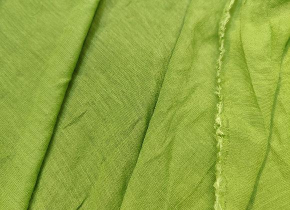 Green Linen Look PolyViscose - 1.15m piece