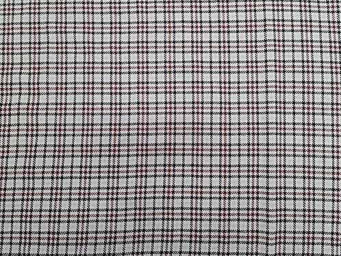 Small Checked Tartan Cotton Wool