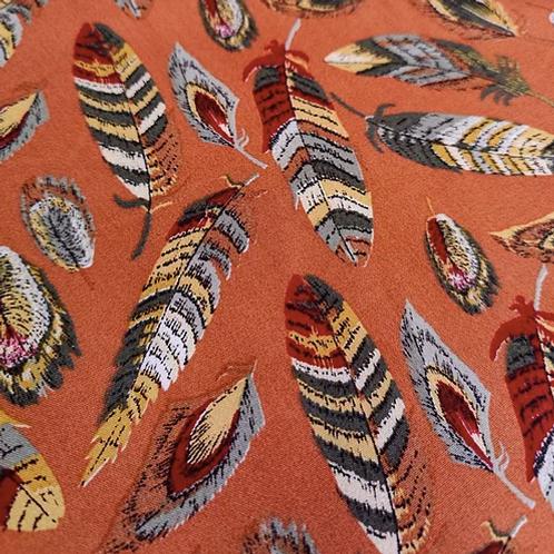 Burnt orange feather Viscose - 3 metres