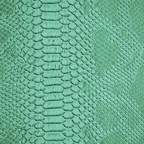 Turquoise Lizard Print Leather