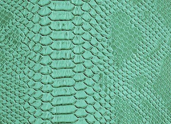 Turquoise Lizard Print Leather