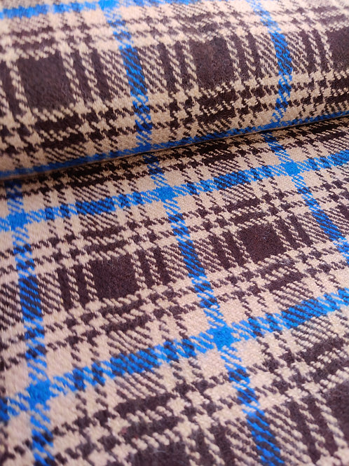 Brown Tartan 100% Wool