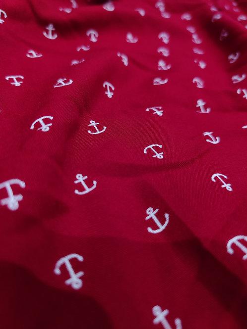 Red Anchor Print Viscose