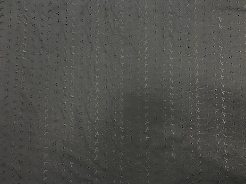 Black Embroidered PolyCotton