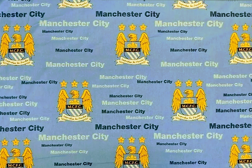 "Manchester City Football Club - 64"" Wide - 100% Cotton"
