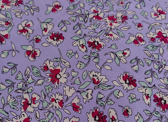 Lilac Floral Viscose Marrocaine