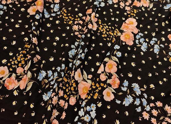 Floral scattered Viscose Challis