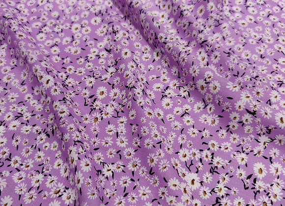 Lilac Daisy Floral Viscose