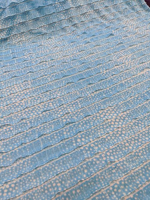 Light Blue Tie-Dye Ruffle Jersey