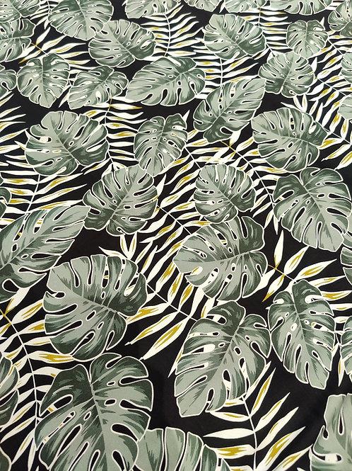 Khaki Palm Leaf Viscose