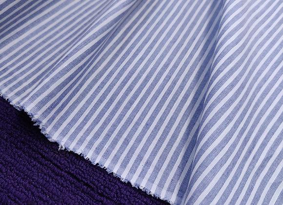 Blue stripe Irish Linen