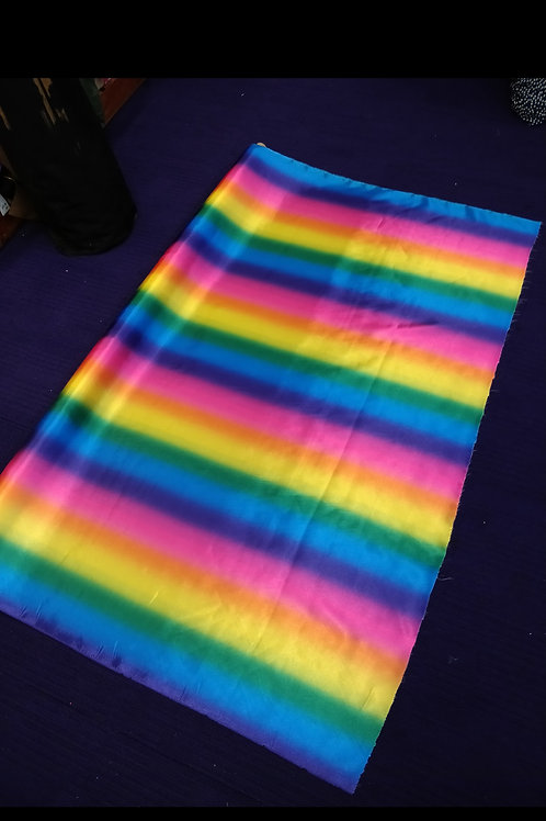 Rainbow striped Satin