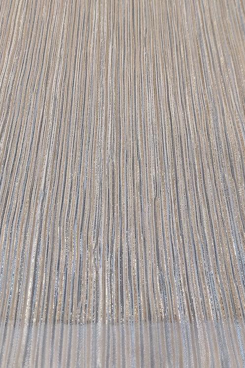 White & Gold streaks Crinkled Jersey