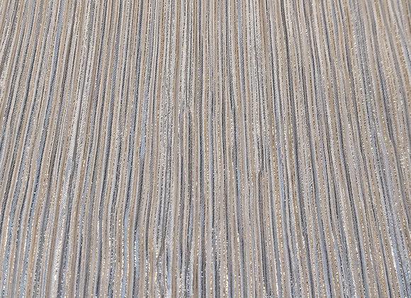 White & Gold streaks Crinkled Jersey - 3 metre piece