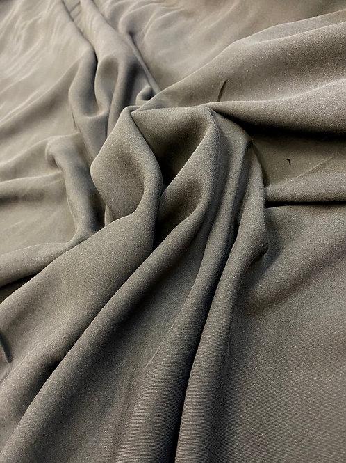 Dark Charcoal Grey Cupro Twill
