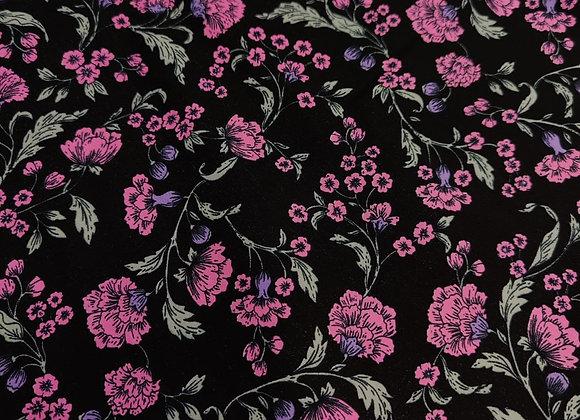 Pink Floral Cotton Poplin