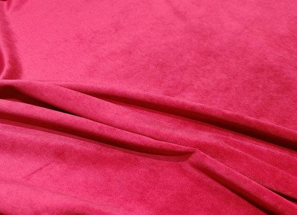 Fuchsia Pink Cotton Velvet - 3 metre piece