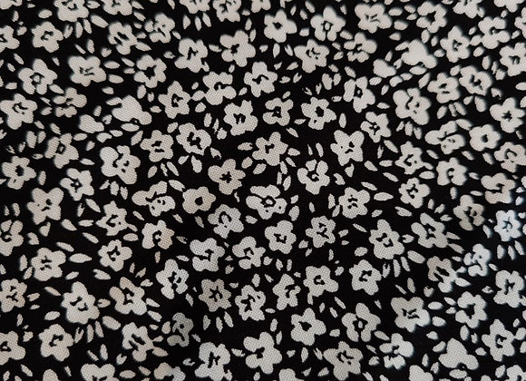Valerie Black/White Floral Viscose Challis