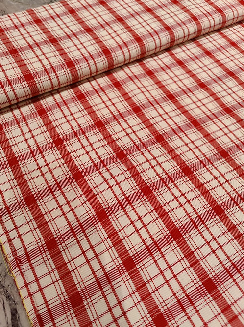 Red Checked Poly Wool