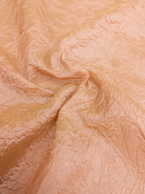 Peach Crinkled Taffeta