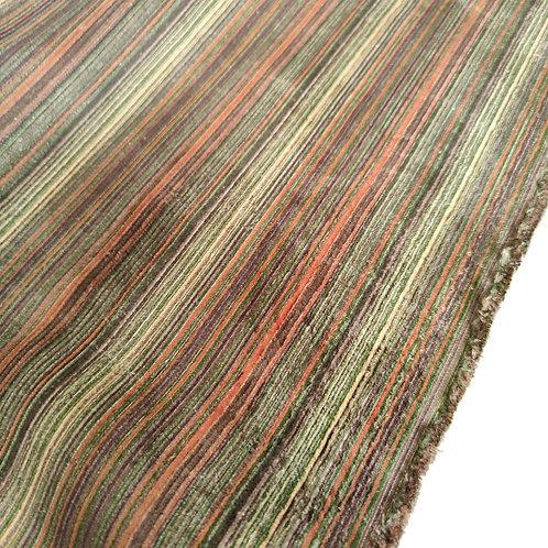 Green/Rust/Brown Cotton Needlecord