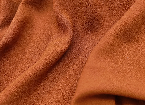 Rust wool crepe