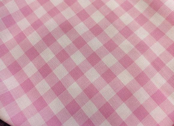 Pink Gingham Viscose