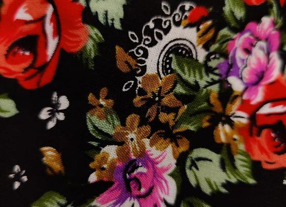Floral Viscose Challis - 3m piece