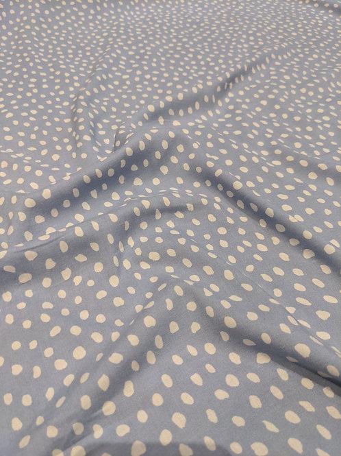 Baby Blue Irregular Polka Dot