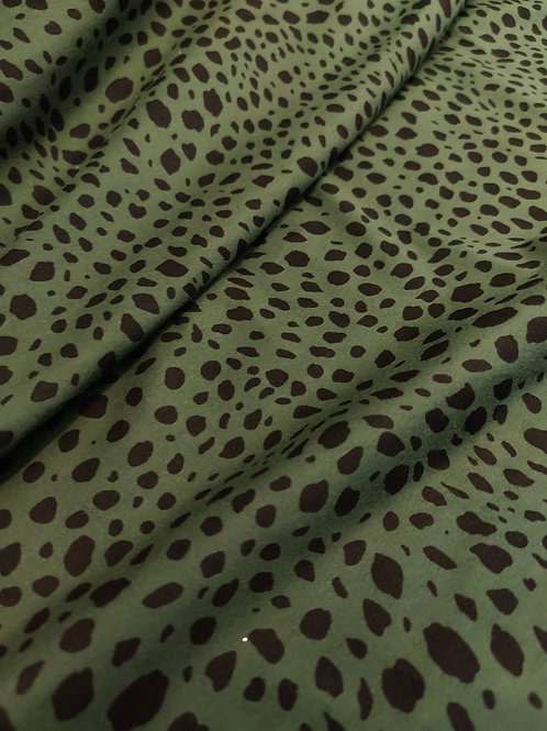 Khaki Leopard Cotton Jersey