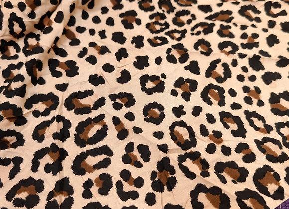 Leopard Poplin Stretch - 1.40m piece