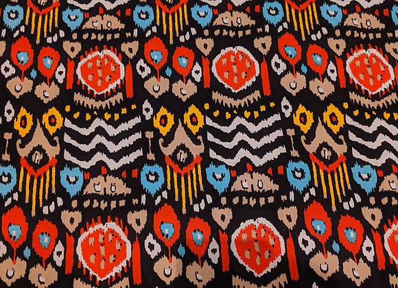 Red Abstract Aztec Viscose
