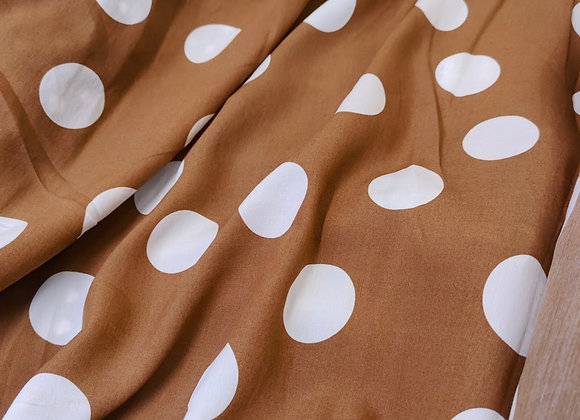 Brown Polka Viscose